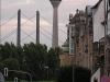"""Düsseldorfer """"Rheinturm"""" am 19. Juli 2005"""